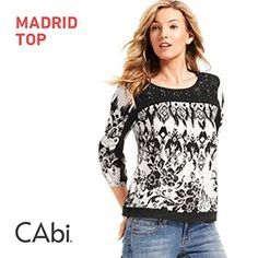 """In love with this top! CAbi Spring 2015 New Additions  """"In the Sun"""" Collection- Madrid Top  www.debbiehill.cabionline.com Lace comes out of hiding and lends a flirty feminine touch.  Hand Wash"""