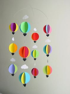 Hot Air Balloon Baby Mobile 'Bright Spark' by younghearts on Etsy  #youngheartslove