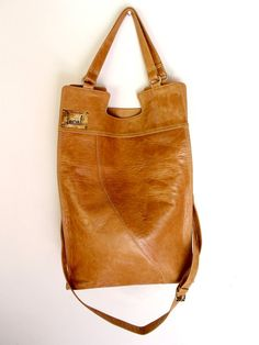 MI-VIDA. Fold-over shoulder leather bag