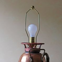 Convert an old fire extinguisher to a lamp