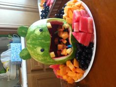 Could I do this with a tiger face? Carnival Birthday, Birthday Fun, Kids Party Decorations, Party Ideas, Monster Party, Summer Treats, Food Humor, Childrens Party, Party Snacks