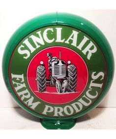 Sinclair Farm Products Gas Pump Globe Green http://www.fiftiesstore.com