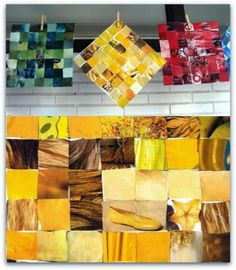 Zoek bijvoorbeeld allemaal plaatjes met een geel element. Mooi resultaat!