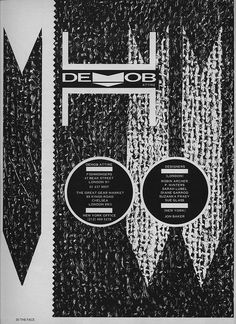 Demob Attire Advert by Neville Brody, from The Face Magazine, 1982