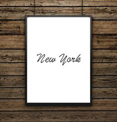 "Affiche illustration Typographie ""New York"""