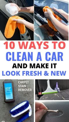 These car cleaning hacks will solve all your problems. You'll be able to keep your car clean with these genius hacks Car Cleaning Hacks, Household Cleaning Tips, Car Hacks, House Cleaning Tips, Household Cleaners, Car Checklist, Car Care Tips, Clean Your Washing Machine, Clean Car Carpet