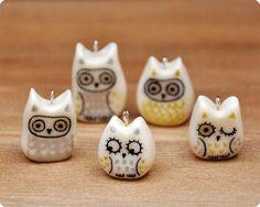 Cold porcelain owls by Memi The Rainbow, via Flickr