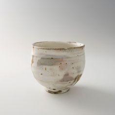 """Ken Matsuzaki, Tea bowl, kohiki glaze, Stoneware, 4 x 4.25 x 4.25"""", MK458"""