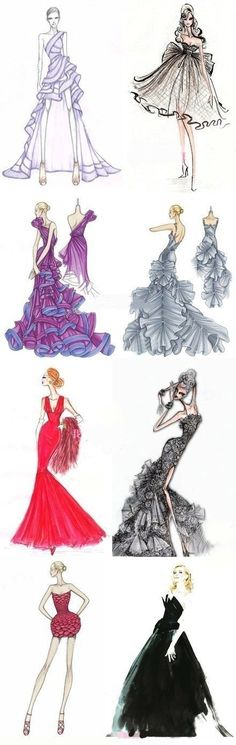 What beautiful dresses ❤ wish I could draw as well as that I'd love 2 B a fashion designer later in life