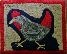 primitive hooked rug by Rosemary Wilson, Rosemary's Rugs.