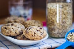 Oatmeal cookies with chocolate and cranberries
