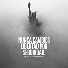 Nos an enseñado a sacrificar nuestra libertad de ser por tener la seguridad cuando es un infierno....