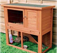 Trixie Natura Animal Hutch With Enclosure In Brown, Medium