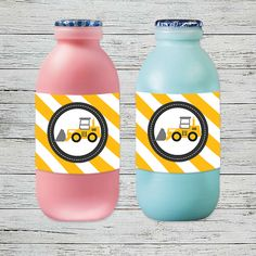 Dump everything and grab our adorable construction themed printables. Drink Labels, Construction Party, Party In A Box, Party Printables, Drink Bottles, Water Bottle, Drinks, Drinking, Beverages
