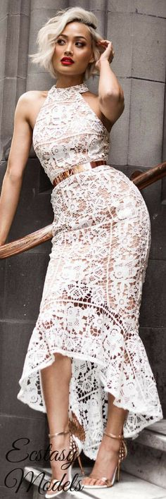 The perfect little white lace dress by /jarlolondon/ // Fashion Look by Micah Gianneli