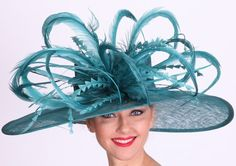 896108c158494 Winner's Circle Feathered Hat for the Kentucky Derby Fancy Hats, Cool Hats,  Kentucky Derby