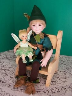 Nancy Peterson's Personal Collection. Marie Osmond Doll, Peter Pan, sculpted by Sonja Bryer