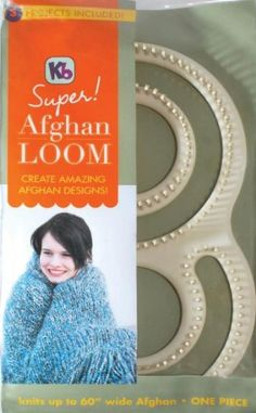 "Knitting Fun With The 60"" Wide Afghan Loom Knitting Loom KIT. By So Crafty contributor badmsm. http://www.squidoo.com/knitting-fun-with-the-60-wide-afghan-loom-knitting-loom-kit"