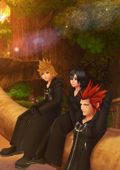 Kingdom Hearts 358/2 Days - Roxas, Xion and Axel