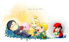 RIP SATURO IWATA (this picture makes me cry every time i see it.)