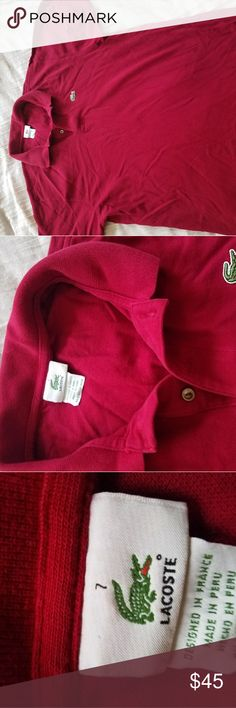 Lacoste polo shirt Lacoste polo shirt Great fit like a large Lacoste Shirts Polos