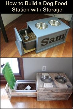 Build Your Dog a Convenient and Mess-Free Dog Food Station with Storage! Build Your Dog a Convenient and Mess-Free Dog Food Station with Storage! Build Your Dog a Convenient and Mess-Free Dog Food Station with Storage! Woodworking Outdoor Furniture, Woodworking Projects, Woodworking Plans, Wood Furniture, Dog Crate Furniture, Woodworking Patterns, Woodworking Techniques, Antique Furniture, Diy Furniture Easy