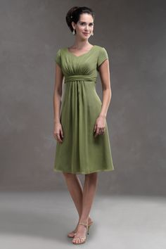 Our #1 selling Short Modest Chiffon dress perfect for Mother of the Bride