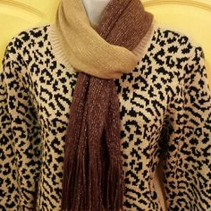 SALELovely Sweater Black and Beige Sweater - Very good condition  Like New! Faded Glory Sweaters