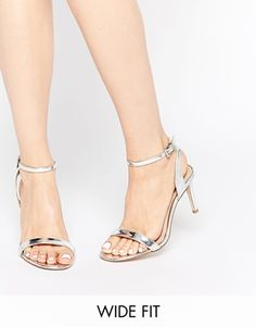 fea8dc2d2e18 Image 1 of ASOS HOORAY Wide Fit Heeled Sandals Wide Fit Shoes