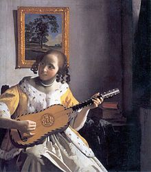 Johannes Vermeer The Guitar Player, , Iveagh Bequest, Kenwood House, London. Read more about the symbolism and interpretation of The Guitar Player by Johannes Vermeer. Johannes Vermeer, Dutch Artists, Famous Artists, Vermeer Paintings, Oil Paintings, Amazing Paintings, Portrait Paintings, Georgia O'keeffe, National Gallery