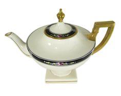 "Lenox Belleek Porcelain Pedestal Teapot 1906-1924, ""American Belleek"" by WhatnotGems on Etsy"