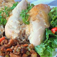 Roast Chicken with Croutons and Onions - Allrecipes.com