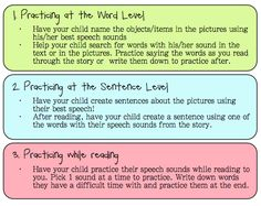 Practicing Speech and Language skills while reading. Post for parents! Great way to practice speech and language skills over the summer!