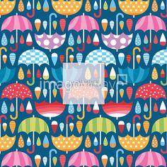 이미지투데이 패턴 패턴디자인 우산 비 일러스트 물방울 블루 통로이미지 tongroimages imagetoday pattern design umbrella rain illust illustration blue
