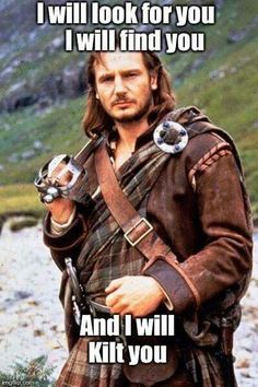 Liam Neeson as Rob Roy.