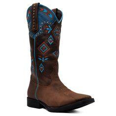9dd90059b8 Bota Feminina Tribal Western - Solado em borracha flexível de alta  durabilidade. - Pé fabricado
