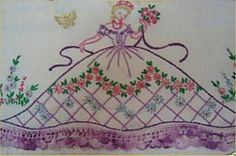 Sweet Vintage Southern Belle Pillowcase Pattern Elegant Embroidery Sewing Crafts | eBay