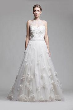 Best A-Line Wedding Dress: Fashion Friday: Camille Garcia RTW Fleur Collection Wedding Vendors, Wedding Blog, Weddings, Bride And Breakfast, Full Skirts, Wedding Dress Styles, Bridal Boutique, Bridal Gowns, Gown Wedding