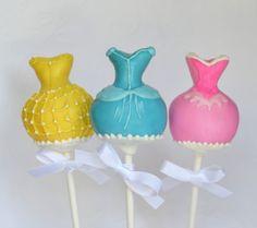 Belle Cinderella and Aurora Disney Princess Dress Cake Pops (BB) Princess Dress Cake, Princess Cake Pops, Disney Cake Pops, Disney Cakes, Disney Princess Party, Disney Princess Dresses, Disney Princesses, Princess Birthday, Princess Wedding