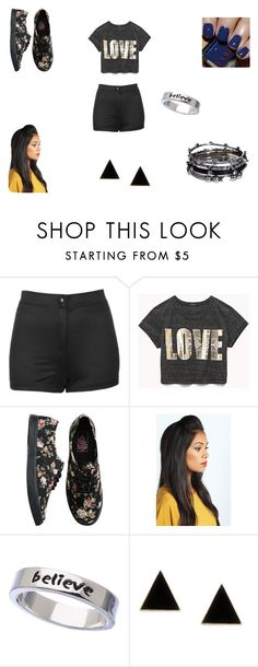 """""""Sem título #29"""" by giovannagoulart ❤ liked on Polyvore featuring beauty, Topshop, Vans, Boohoo, Erica Anenberg and DesignSix"""