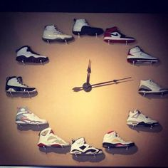 Want to do this with in JJ's room with his Jordan shoe collection