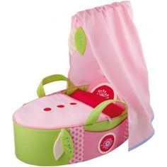 """Haba - Doll's Carry Cot Summer Dream My little girl loves putting her dolly """"night night"""", this would be perfect. My Little Girl, My Baby Girl, Baby Girls, Doll Furniture, Dollhouse Furniture, Best Kids Toys, Toddler Dolls, Summer Dream, Fabric Dolls"""