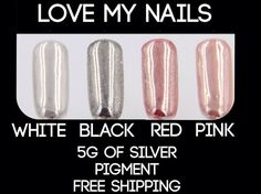 Metallic nails mirror nails chrome nails by Lovetobakeandcraft