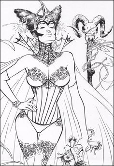 comic drawing white art art inspo adult coloring coloring books stress relief comic art skulls masks - Pin Up Girl Coloring Pages