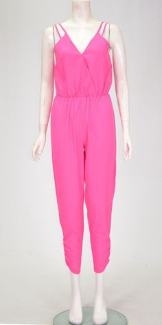 71e9c30eadb2 Women Celebrity Sleeveless Long Jumpsuit Pink UK 8-14