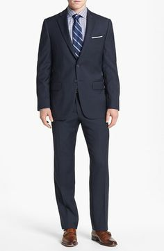 Joseph Abboud 'Profile Hybrid' Trim Fit Wool Suit available at #Nordstrom   Can see it at store near boulder