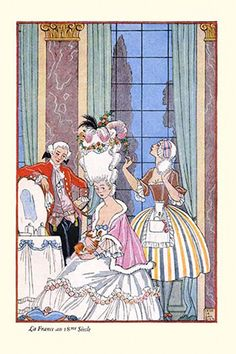 France in the 18th Century, by George Barbier