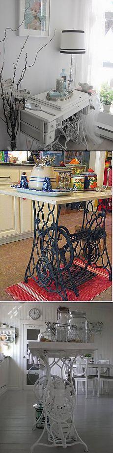 Старые швейные машинки в малогабаритке (подборка) / Мебель / Своими руками - выкройки, переделка одежды, декор интерьера своими руками - от ВТОРАЯ УЛИЦА
