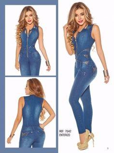 Macacão jeans Yes Brasil Modela e Levanta BumBum Tecido:Jeans e Elastano
