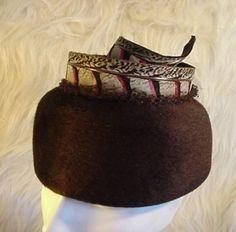 Jan Leslie Custom Design FEATHER Hat Helios Italy by FunkyGramma, $40.00